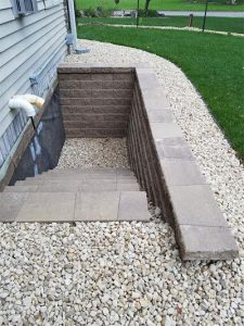 Egress Window Retaining Wall